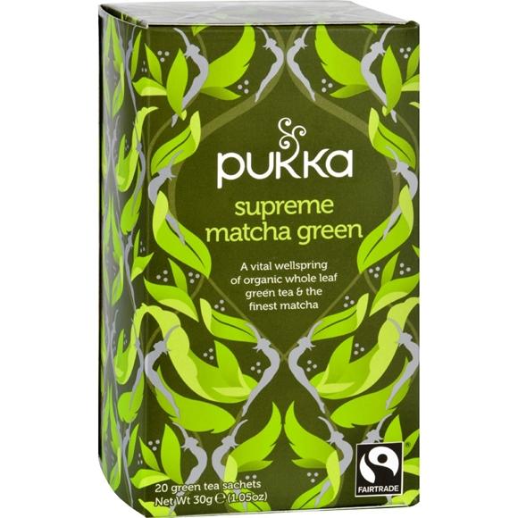 Picture of 6 Pack (120 tea bags) - Pukka Herbal Teas Tea - Organic - Green - Supreme Matcha - 20 Bags - Case of 6