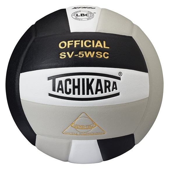Picture of Sensi-Tec ® Composite SV-5WSC Volleyball- Black/White/Silver Gray