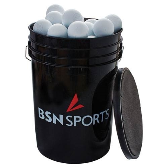 Picture of Bucket with Lacrosse Balls